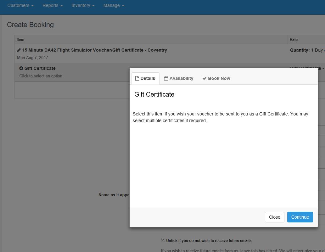 Help - Gift Certificate 2